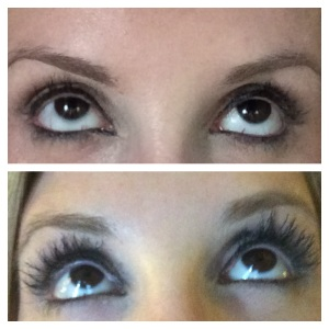 My all natural eyelashes and my lashes with 3D mascara!